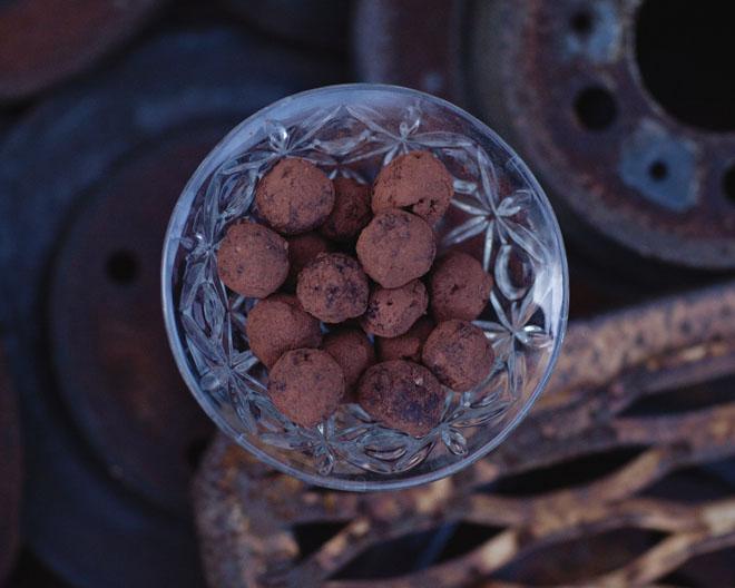 Chokladbollar. Typ.