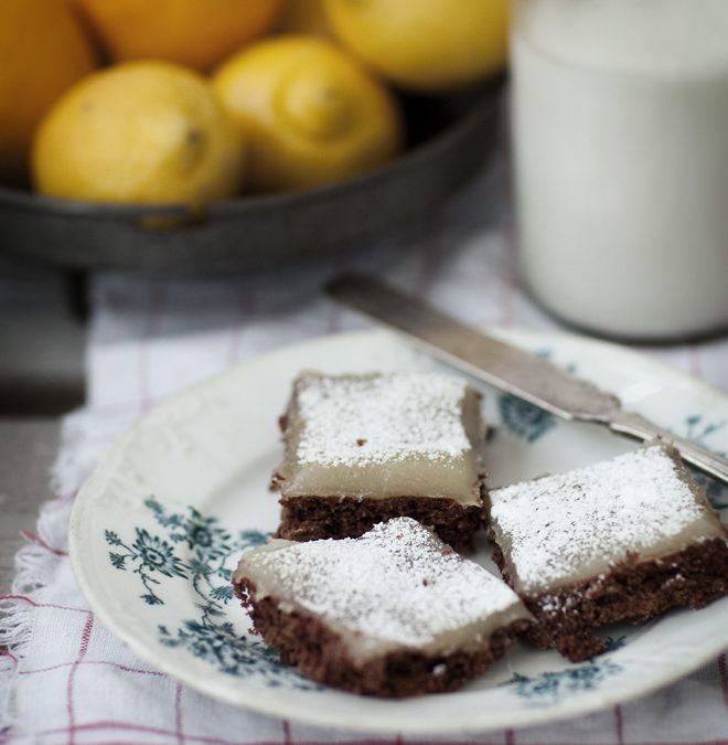 vegansk choklad- och citronkaka